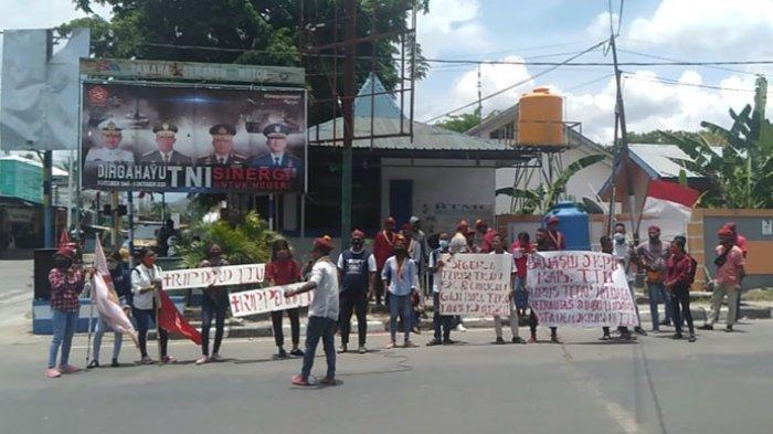 Peringati Hari Sumpah Pemuda, PMKRI Kefa Demo Tuntut Pemda TTU Segera Bayar Gaji Guru Kontrak