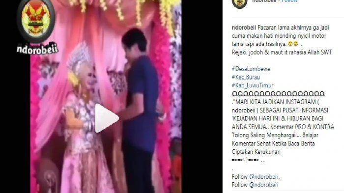 VIDEO VIRAL Pengantin Wanita Pingsan Setelah Dipeluk Mantan Pacarnya di Pelaminan