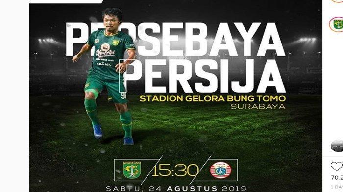 SEDANG BERLANGSUNG Live Streaming Indosiar Persebaya vs Persija Liga 1 2019 Skor Sementara 0-0