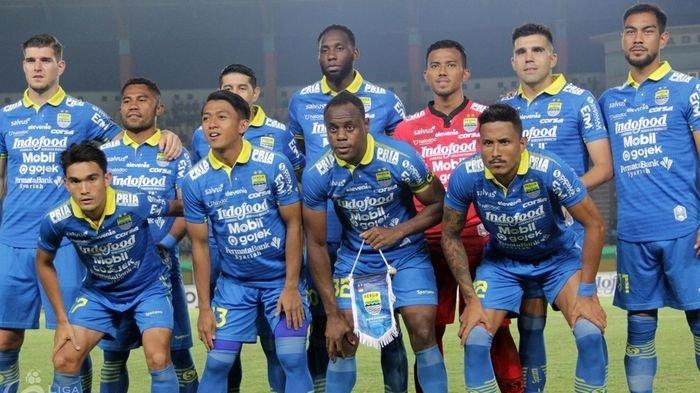 Tim Persib Maung Bandung Gunakan Jersey Baru di Piala Wali Kota Solo 2021