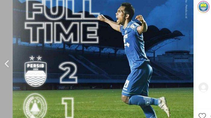 Persib Bandung menang 2-1 atas PSS Sleman dalam pertandingan babak semifinal leg 1 Piala Menpora 2021, Jumat 16 April 2021 malam.