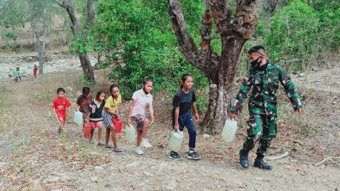 TNI Beri Spirit Kepada Siswa di Perbatasan Indonesia-Timor Leste