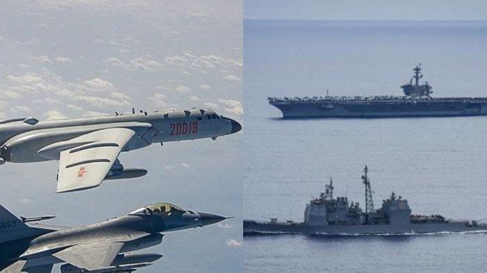 PERANG Besar Laut China Selatan Sulit Dihindari,12 Jet TempurChina vs 1 Kapal Induk 3Kapal RudalAS