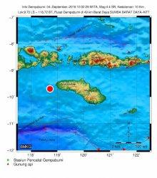 Gempa Bumi 4,4 Skala Ricther Kembali Guncang Sumba Barat Daya