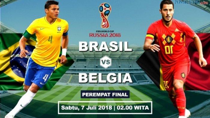 Pertandingan Paling Seru! Laga Brasil vs Belgia di Perempat Final Piala Dunia 2018. Live Trans TV