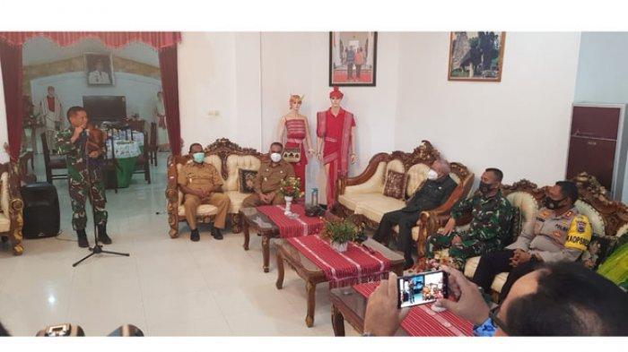 Pjs Bupati Pakereng Terima Pangdam di Rujab