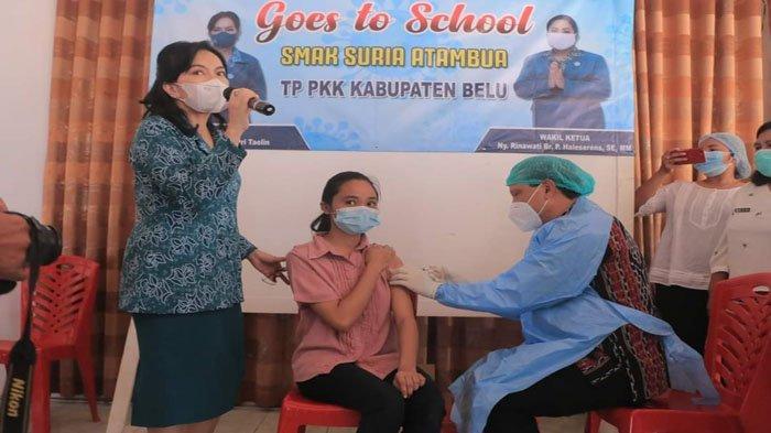 PKK Kabupaten Belu Lakukan Gerakan Vaksinasi Covid-19 Goes to School