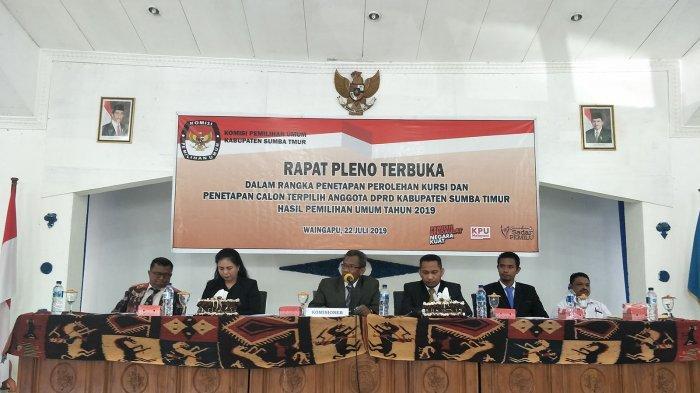 KPU Sumba Timur Gelar Rapat Pleno Terbuka Penetapan Calon Anggota DPRD Terpilih