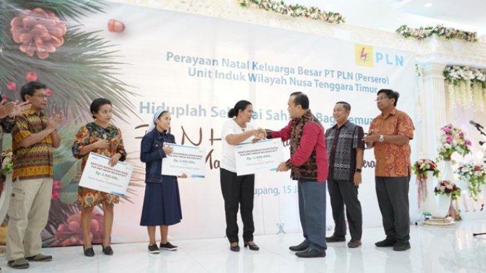PLN NTT Berbagi Kasih dengan Tiga Panti Asuhan di Kupang