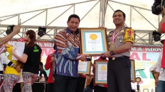 Polres Belu Dapat Rekor MURI Peserta Terbanyak Millenial Road Safety Festival