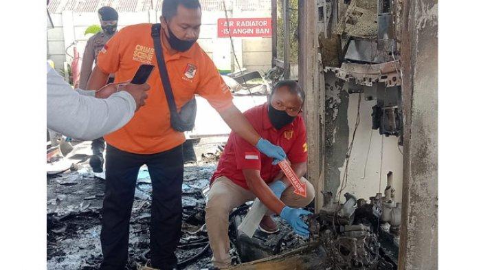 Polres Manggarai Lakukan Penyelidikan Penyebab Kebakaran SPBU Mena