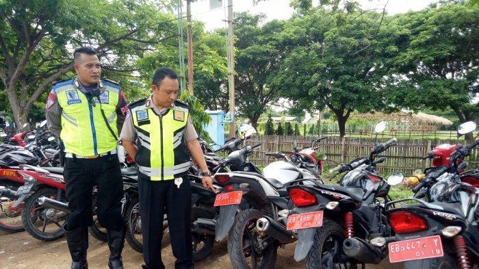 Di Kota Mbay ! Belasan Sepeda Motor Plat Merah Terjaring Razia