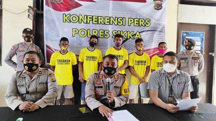 Polres Sikka Ungkap Modus Pencurian Panjat Tembok Gudang Lalu Curi Sembako