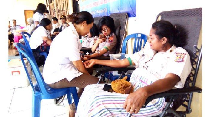 Korpri Polri Daerah NTT Gelar Donor Darah untuk PJU, Anggota Polri dan ASN Polda NTT