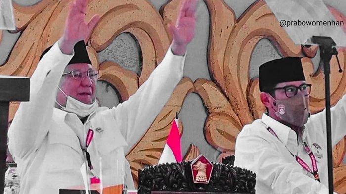 Prabowo Subianto terpilih kembali menjadi ketua umum Partai Gerindra periode 2020-2025 dalam KLB di Hambalang Bogor, Sabtu (8/8/2020).