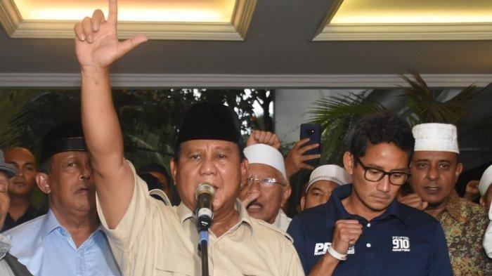 Sempat Diisukan Diusir Prabowo,Terungkap Penyebab Wajah Sandiaga Uno Kusut saat Pengumuman Pilpres