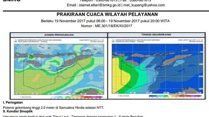 Cuaca Buruk - Potensi Gelombang Setinggi 3-7 Meter di Dua Perairan NTT, Masyarakat Harus Waspada