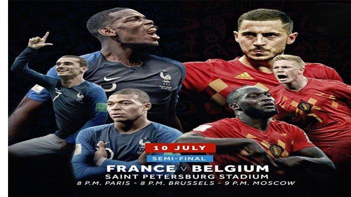 Prancis vs Belgia Pukul 01.00 WIB Malam Ini, Begini Cara Nonton Live Streaming di Hp Anda