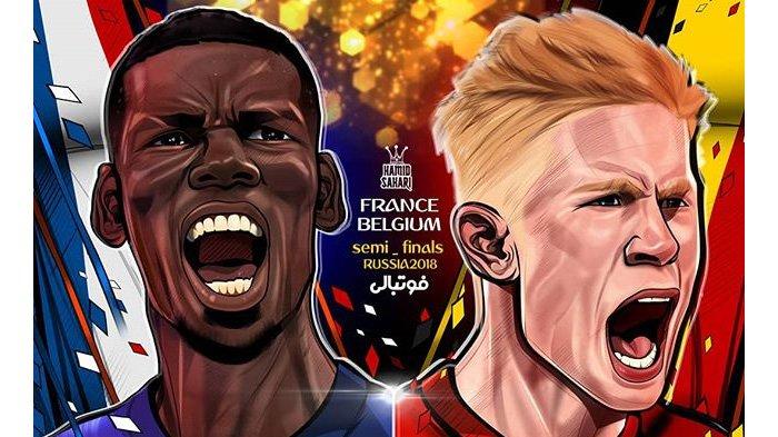LIVE Trans TV dan Trans 7 Pukul 01.00 WIB Malam Ini, Prancis vs Belgia: Ayam Jantan 2 Kali Menang
