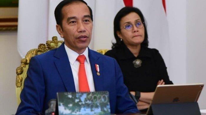 Presiden Jokowi dan Menteri Keuangan, Sri Mulyani Indarwati