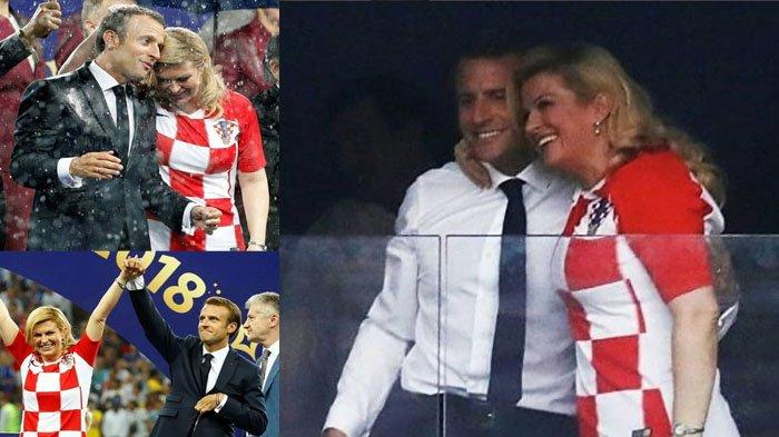 Intip Potret 'Mesra' Presiden Kroasia & Presiden Prancis di Final Piala Dunia 2018