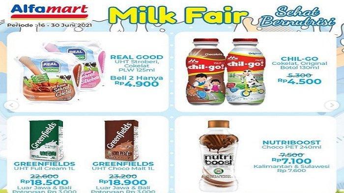 Alfamart 22 Juni 2021 Susu Fair Omela Rp8.600 Zee Chocolate 350g Turun dari Rp46.900 Jadi Rp36.900