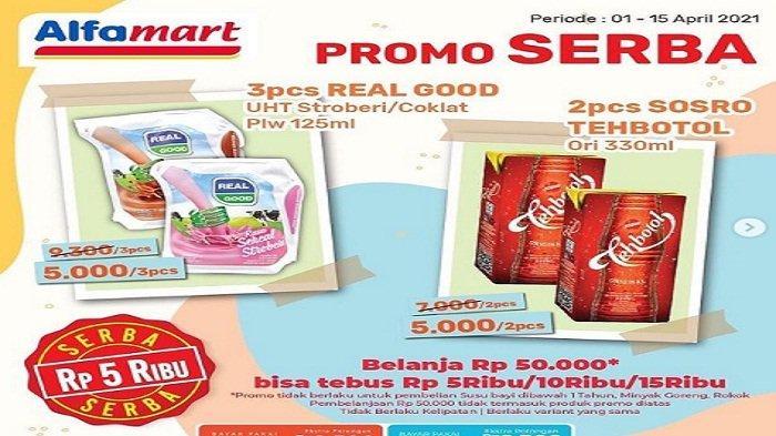 Promo Alfamart Besok Minggu 11 April 2021 Kental Manis Gratis Teh Botol, +Rp 1.000 Dapat 2 Pcs Kurma