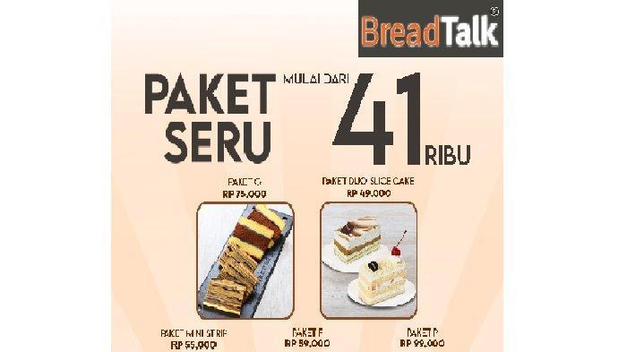 Promo BreadTalk Hari ini Kamis 8 April 2021, Cookie Manis Rp 55 Ribu dan Duo Slice Cake Rp 49 Ribu