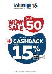 Promo Cashback Informa Hingga 15 Persen Minimal Belanja Rp 12 Juta
