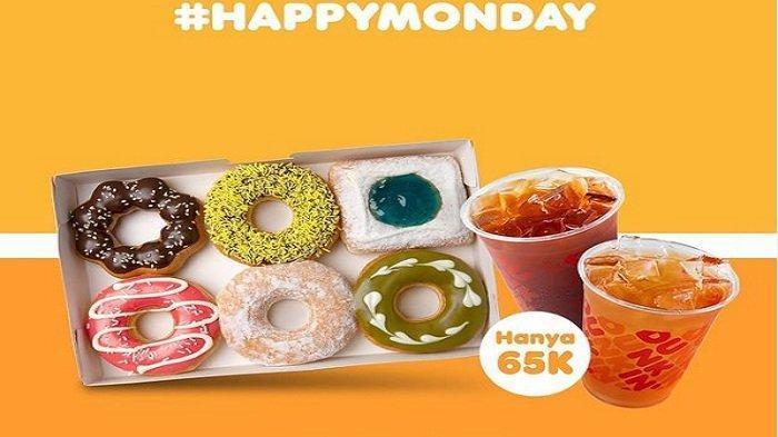 Promo Terbaru Dunkin Donuts Hari Ini 14 Juni 2021 : Untuk Umum 12 Donat 3 Minuman Rp 110 Ribu