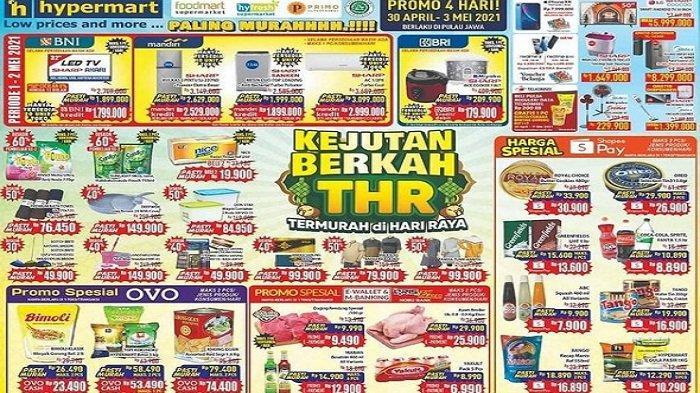 Hypermart Minggu 2 Mei 2021 Terigu Segitiga Biru Rp8.890, Blueband Rp7.200 Ikan Kaleng Murah