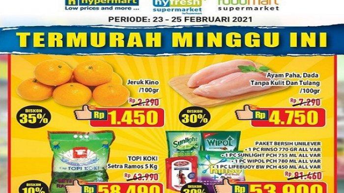 TERBARU ! Katalog Promo Hypermart 23-25 Februari 2021 Diskon50% Beragam Juice Hingga Nutrive Benecol