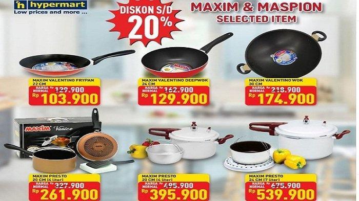 Hypermart Hari ini 14 Juni 2021, Promo Mainan, Diskon20% Maxim dan Maspion, Sport Fair Diskon10%
