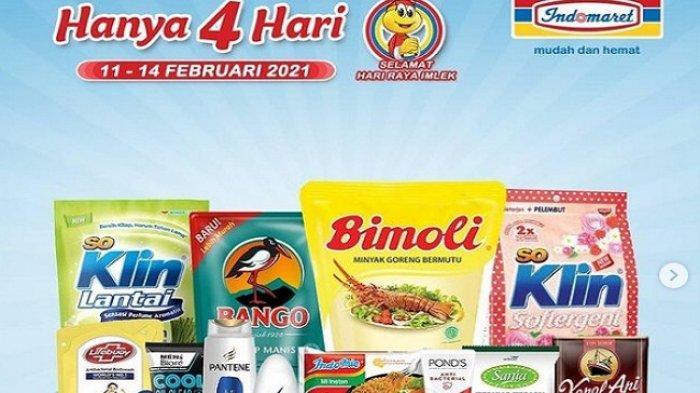 KATALOG Promo Indomaret Hari Ini 14 Februari 2021, Bimoli Rp 20.900/2 L, Apel Fuji Rp 46.000/kg