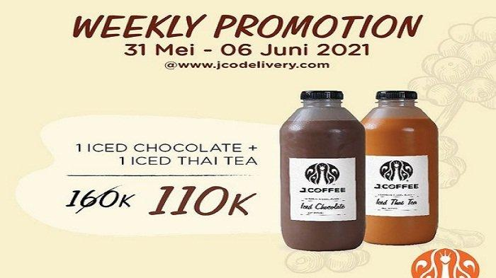 Promo JCO Jumat 4 Juni 2021, Promo 2 Botol JCOFFEE Ukuran 1 Liter Harga Spesial Cuma Rp 110ribu