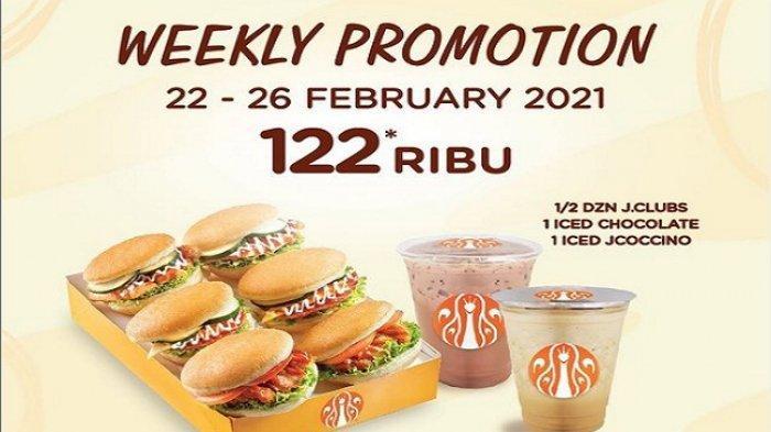 Weekly Promotion 6 Donat +2Minuman Rp 122 Ribu, Promo J.CO hari ini Selasa 23 Februari 2021