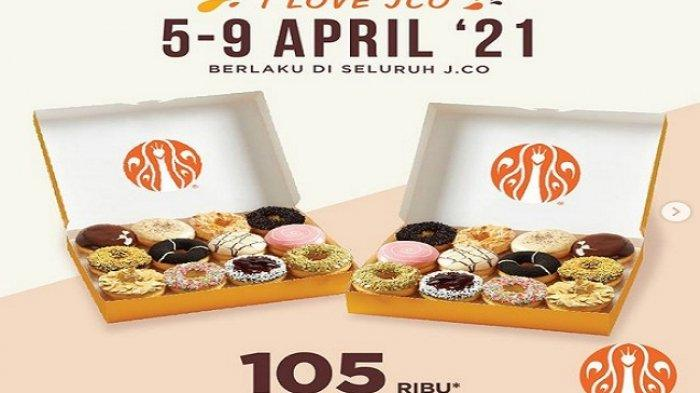 Promo J.CO 1 April 2021Terakhir Paket Roti 2 Pilihan Minuman Rp 119 Ribu, All Beverages Rp26Ribu