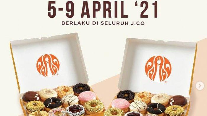 Promo JCO Hari ini Kamis 8 April 2021, Paket 2 Lusin Donat Rp 105 Ribu, 2 JCOOL Couple Rp 52 RIbu