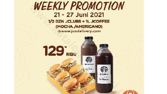 Promo JCO Rabu 23 Juni 2021, Promo Minggu Ini Setengah Dos JClubs + 1L JCoffee Mocha Rp 129ribu