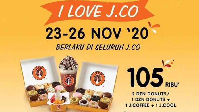 Promo JCO Indonesia Hari Ini Minggu 22 November-26 November, Ada Promo 52 Ribu, Dapat Apa Saja?