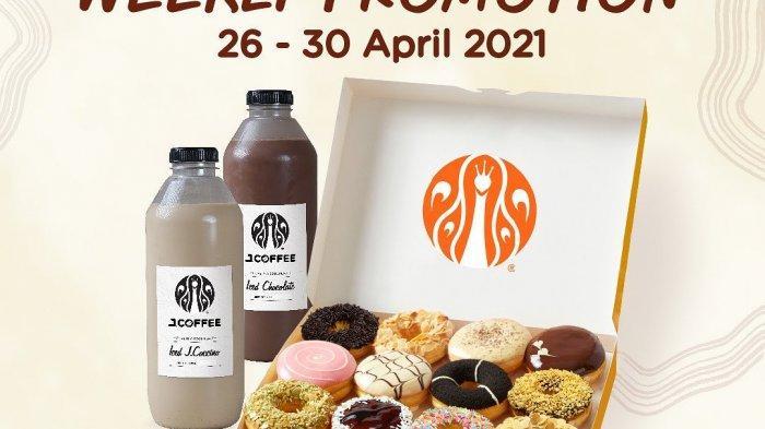 Promo JCO Jumat 30 April 2021, Hari Terakhir Promo 1 Lusin Donat + 1 Liter JCOFFE Cuma Rp 139ribu