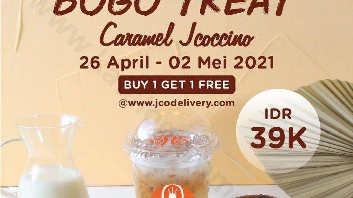 Promo JCO Selasa 27 April 2021, 2 Caramel Jcocinno Rp 39 ribu, Pas Untuk Buka Puasa Bareng!
