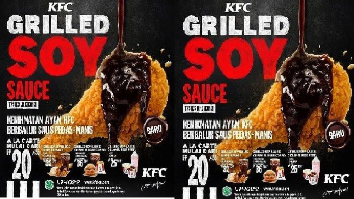 Promo Terbaru KFC Kamis 8 April 2021, Grilled Soy Sauce Chicken Rp 20.455, Take Away & Dine In