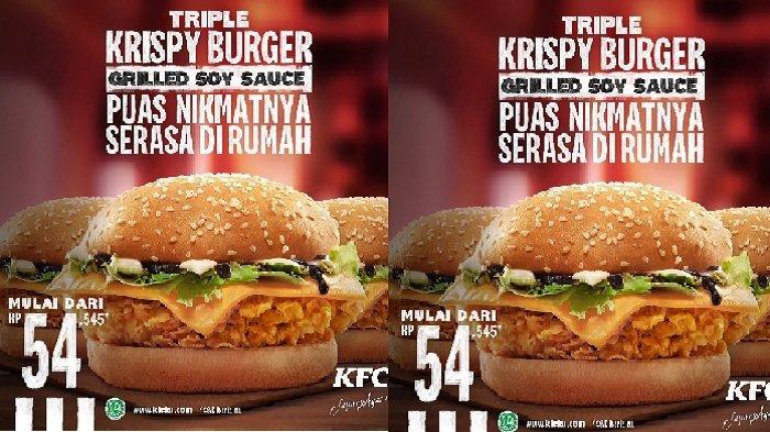 Promo KFC Hari ini Selasa 13 April 2021, Menu Baru KFC Triple Krispy Burger Mulai dari Rp 54.545