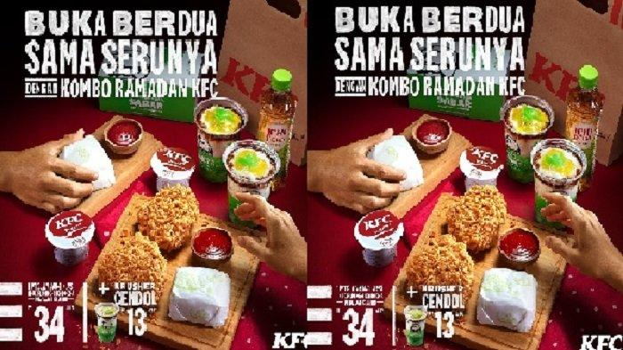 Promo KFC Jumat 30 April 2021, Kombo Ramadan 1 Ayam + 1 Nasi + 1 KFC Puding + 1 Ichi Ocha Rp 34.545