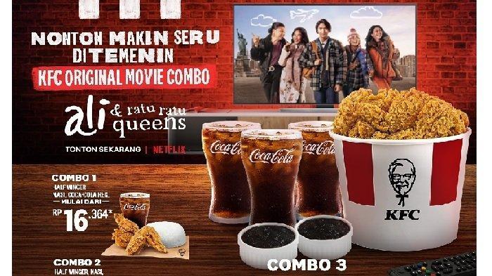 Promo KFC Rabu 23 Juni 2021, KFC Original Movie Combo, Half Winger + Nasi + Cola Mulai Rp 16.364