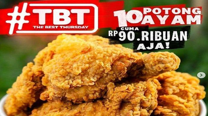KFC Promo Khusus Kamis 17 Juni 2021, Siap-siap 10 Ayam Goreng Renyah Murah Rp 90Ribu
