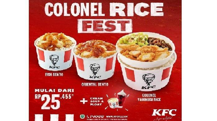 Promo KFC Terbaru Besok Kamis 8 April 2021, Colonel Rice + Cream Soup dan Float Mulai Rp 25 Ribuan