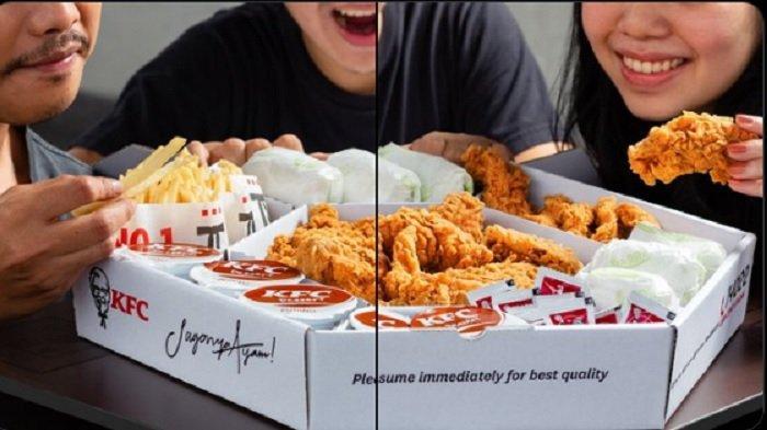 Promo KFC Senin 10 Mei 2021, 7 Ayam + Nasi+ Chicken Strip + French Fries + Pudding Coklat Rp 240.909