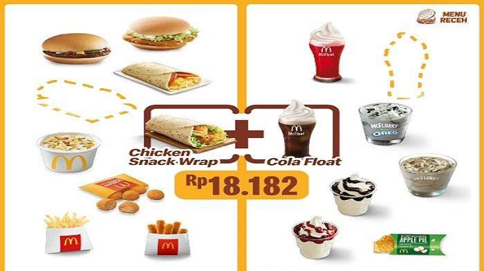 Promo McDonalds Selasa 8 Juni 2021, Promo Serba 30ribuan, Chicken Snack Wrap + Cola Float Rp 18.182